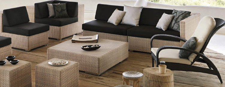 dedon lounge hochwertige outdoor gartenm bel von villa. Black Bedroom Furniture Sets. Home Design Ideas