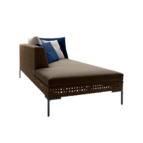 Charles Outdoor Chaise Longue Element links 234 cm, Outdoor Gartenmöbel B&B Italia