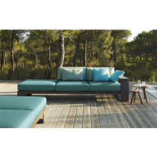 Andreu World Landscape Alu Loungesofa Endmodul Dreisitzer links