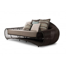 Croissant  Sofa  (brown/whitewash) inkl. Kissenset von Kenneth Cobonpue