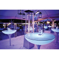 Stehtisch Lounge LED Pro Outdoor H105 cm