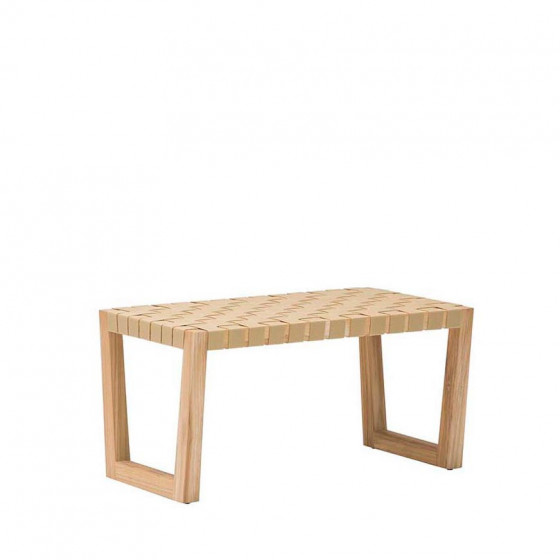 Andreu World Serena Teak Loungehocker • Gartenhocker