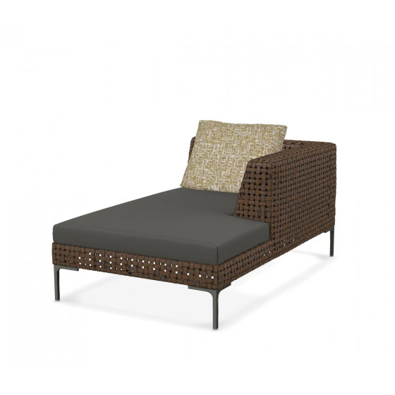 Charles Outdoor Chaise Longue Element rechts 160 cm von B&B Italia, Outdoor Gartenmöbel B&B Italia