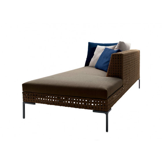 Charles Outdoor Chaise Longue Element rechts 234 cm, Outdoor Gartenmöbel B&B Italia