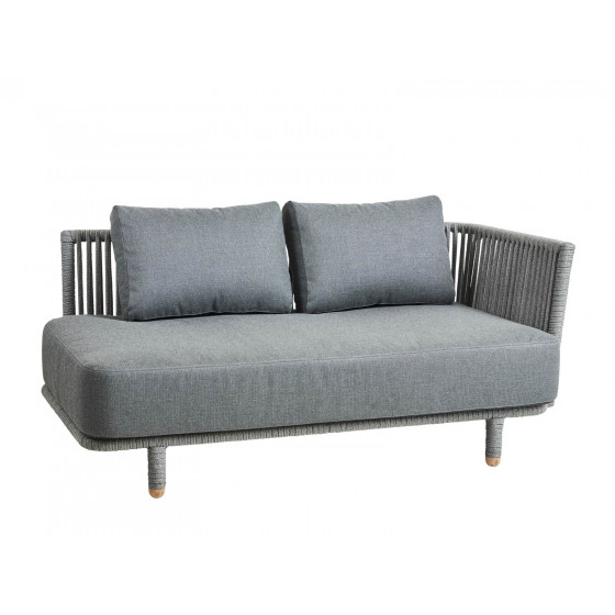 Cane-line Moments Loungesofa Endmodul links | Gartensofa Zweisitzer 167 cm