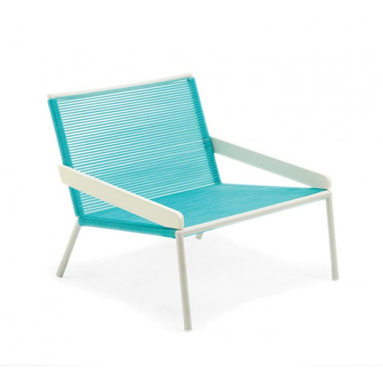 Ethimo Allaperto Camping Chic Loungesessel • PVC Turquoise