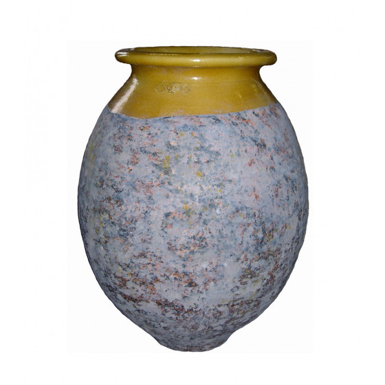 French Pottery Gartengefäß Olive