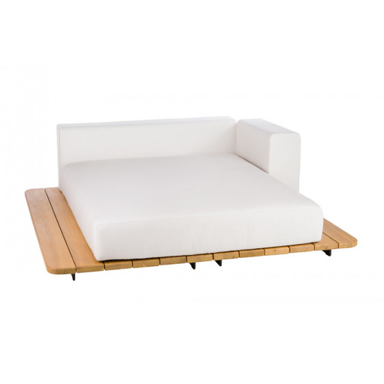 Point Pal Outdoor Daybed 92 cm / Doppel Sonnenliege • Sitz- & Rückenkissen + Armlehne links