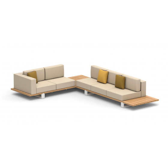 Royal Botania Lounge Set Vigor Teakholz 401 cm inkl. Kissenset Stoffklasse B