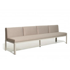 Nak 65 S4 Loungesofa high 47 cm / low 42 cm (konfigurierbar) von Bivaq