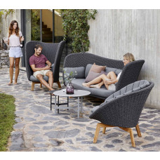 Cane-line Peacock Wing Soft Rope Loungesofa Dreisitzer 248 cm