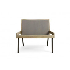 Ethimo Allaperto Urban Loungesessel • Metall Coffee Brown + Batyline Cappuccino