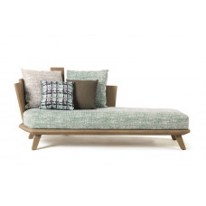 Ethimo Rafael Lounge Recamiere • Daybed Loungemodul rechts mit Teakholzgestell