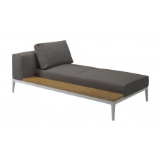 Grid Chaiselongue Modul rechts/links von Gloster