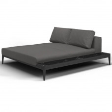 Grid Chill Chaiselongue Modul 180 cm mit Keramikablage rechts/links von Gloster