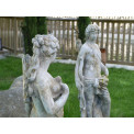 French Pottery Statue Diane & Apollo aus Stein 140 cm